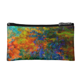 Abstract Art Rainbow Colors Makeup Bags