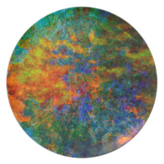 Abstract Art Rainbow Colors Plate
