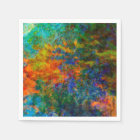 Abstract Art Rainbow Colours Disposable Napkin