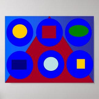 Abstract Art - Red Horizon Print