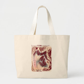 Abstract Art | Red Tree Rings Bags