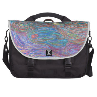 Abstract Art, Ripple of Color 2 Computer bag
