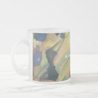 Abstract Art Rocks Painting Inspirational Minimal Frosted Glass Coffee Mug