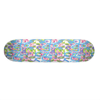 Abstract Art Skateboard design