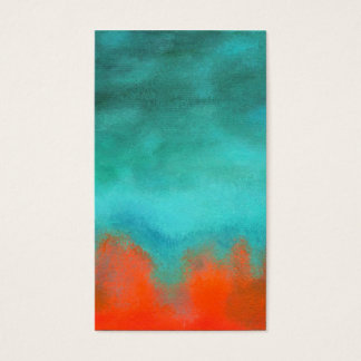 Abstract Art Sky Fire Lava Red Orange Turquoise