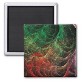 Abstract Art Space Fire Refrigerator Magnets