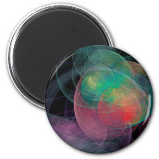 Abstract Art Space Shell Refrigerator Magnet