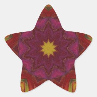 ABSTRACT ART STAR STICKER