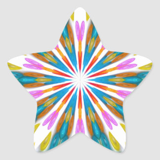 ABSTRACT ART STAR STICKERS