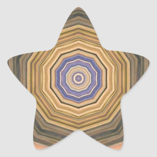 ABSTRACT ART STAR STICKER