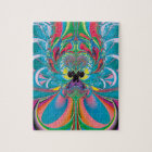 Abstract Art Summer Butterfly Jigsaw Puzzle