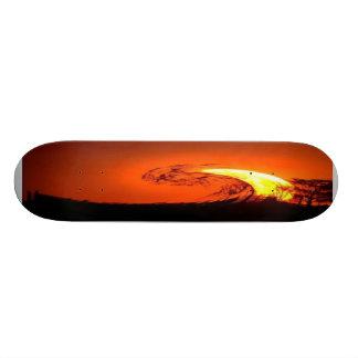 ABSTRACT ART SUNSET SKATE DECK