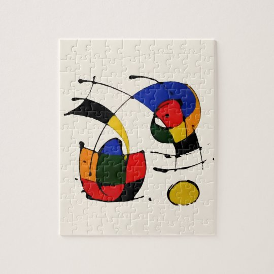Abstract Art Surrealism in the style of Joan Miro Jigsaw Puzzle