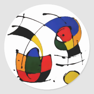 abstract art surrealism round sticker