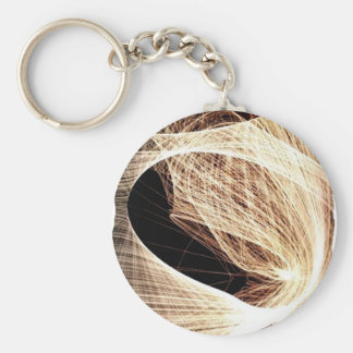 abstract art swirls - abyss key ring