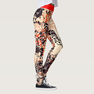 """Abstract Art """"The Heart of a Planet is a Dragon"""" Leggings"""