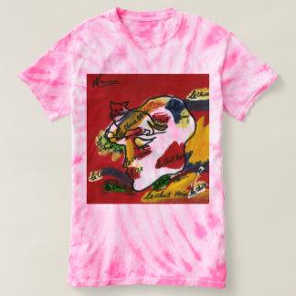 Abstract art tie dye t-shirt