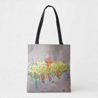 "Abstract Art Tote Bag ""Birthday"""