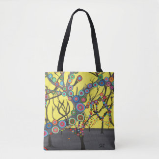 """Abstract Art Tote Bag """"Forest"""""""