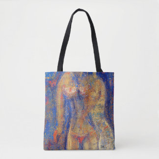 """Abstract Art Tote Bag """"Golden"""""""