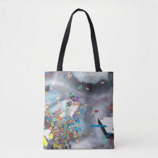 "Abstract Art Tote Bag ""Pool Day"""