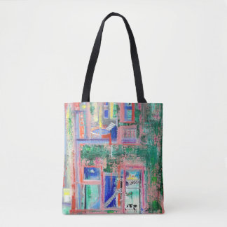 "Abstract Art Tote Bag ""Spa Day"""
