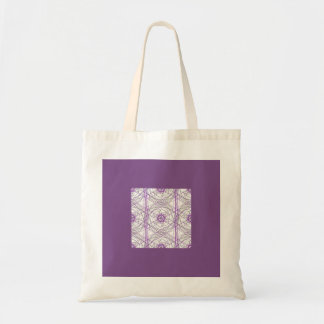 Abstract Art Tote Purple Floral