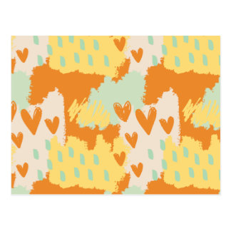 Abstract Art - When My Heart Comes Postcard