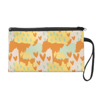 Abstract Art - When My Heart Comes Wristlet Clutches