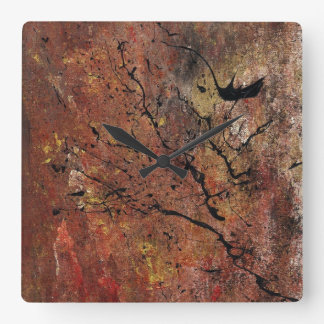 Abstract Art - Wildfire Square Wall Clock