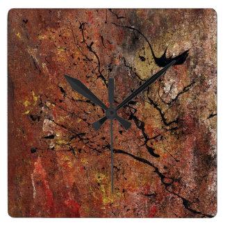 Abstract Art - Wildfire Wallclock
