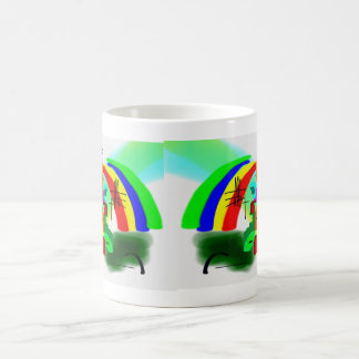 abstract art with donkey1 coffee mug