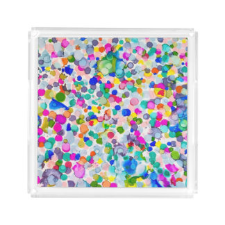 Abstract Artful Acrylic Tray