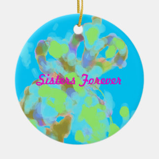 Abstract Artist Design Double-Sided Ceramic Round Christmas Ornament