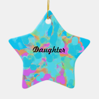Abstract Artist Design Double-Sided Star Ceramic Christmas Ornament