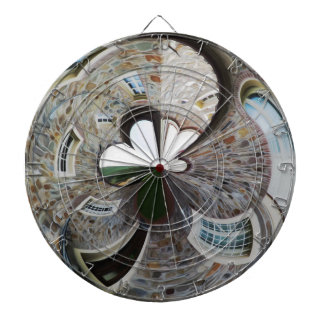Abstract artistic background of rural house dartboard