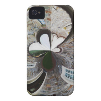 Abstract artistic background of rural house iPhone 4 cover