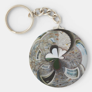 Abstract artistic background of rural house key ring