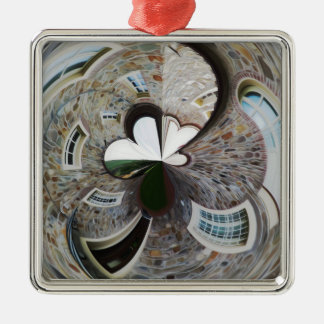 Abstract artistic background of rural house metal ornament