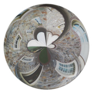 Abstract artistic background of rural house plate