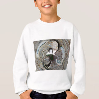 Abstract artistic background of rural house sweatshirt