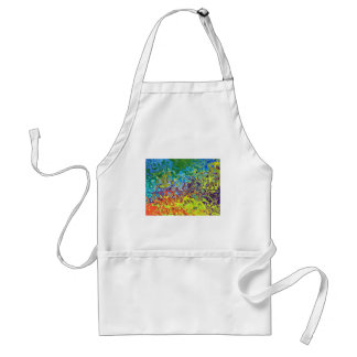 abstract artistic colorful design standard apron