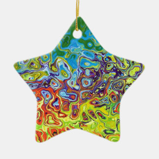 abstract artistic colorful design ceramic star decoration