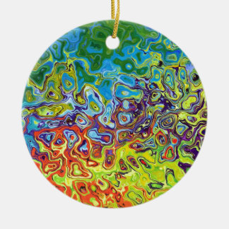 abstract artistic colorful design round ceramic decoration