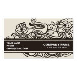 Abstract artistic design business cards