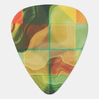 Abstract artwork guitar pick