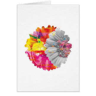 Abstract Arty Floral Greetings Card