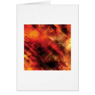 Abstract Arty Greetings Card - Paris Theme