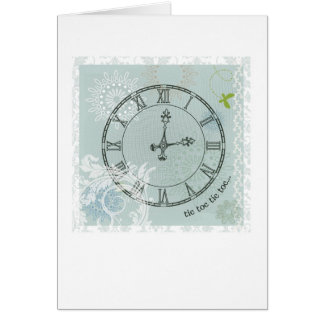 Abstract Arty Greetings Card - Time Theme