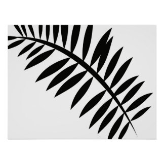 Abstract Asian Leaf 2 Poster